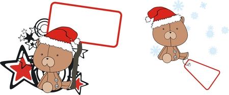 celebartion: teddy  claus cartoon copyspace in vector format very easy to edit Illustration