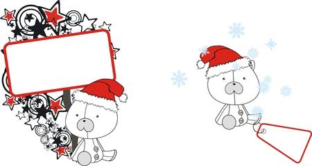 polar bear  claus cartoon copyspace in vector format very easy to edit