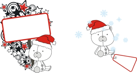 celebartion: polar bear  claus cartoon copyspace in vector format very easy to edit