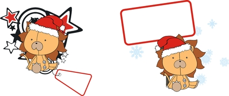 celebartion: lion  claus cartoon copyspace in vector format very easy to edit