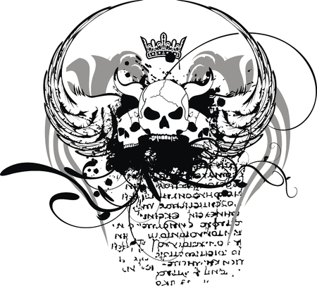 Armoiries du crâne héraldique en format vectoriel Banque d'images - 8344462