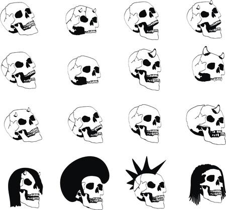heraldic coat of arms skull Illustration