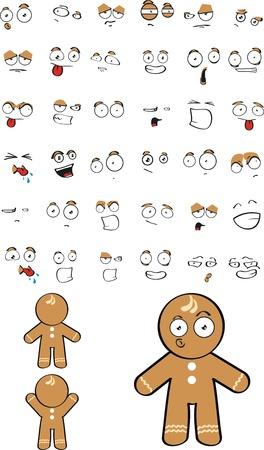 Cookie kid caricature Banque d'images - 8413571