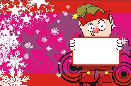 elf cartoon xmas background