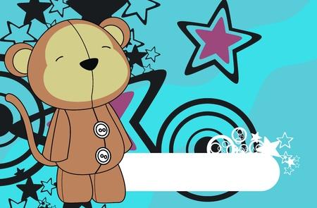star background: monkey  cartoon wallpaper