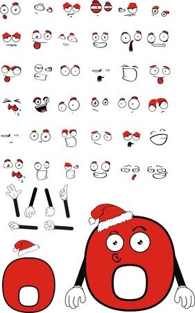 NULL Zahl cartoon Standard-Bild - 8414538