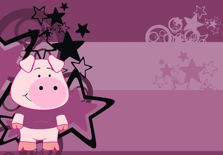 pig cartoon background Stock Vector - 8489631