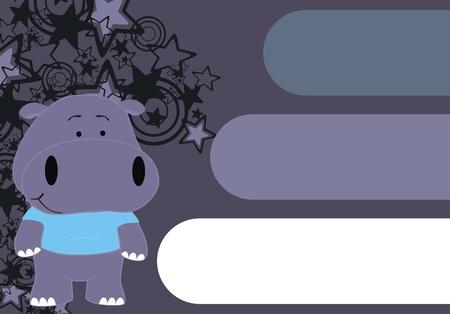 copyspace: hippo cartoon copyspace