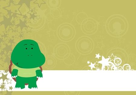 copyspace: turtle cartoon copyspace Illustration