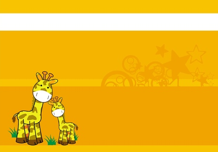 giraffe cartoon background