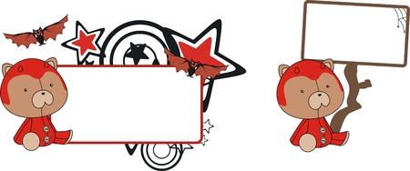 celebartion: teddy  demon cartoon