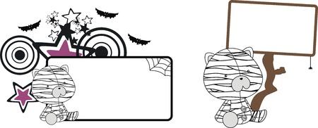 celebartion: teddy  mummy cartoon   Illustration