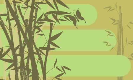 butterfly background: bamboo background  Illustration