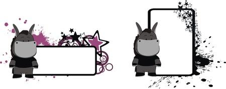 copyspace: donkey cartoon copyspace