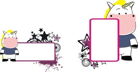 copyspace: unicorn cartoon copyspace