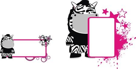 copyspace: zebra cartoon copyspace