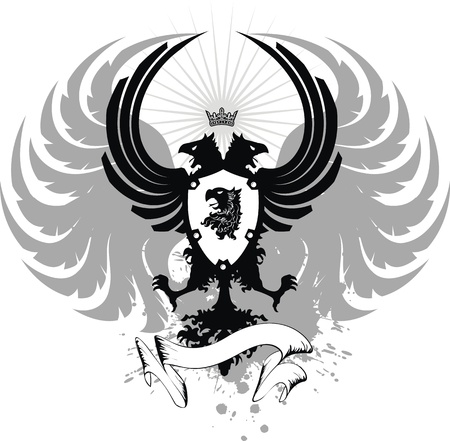 Heraldische eagle dubbele hoofd wapen  Stockfoto - 8489734