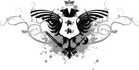 tattoo design: heraldic eagle double head coat of arms