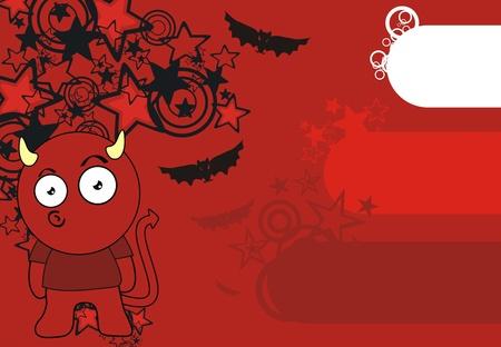 devil cartoon wallpaper Stock Vector - 8489767