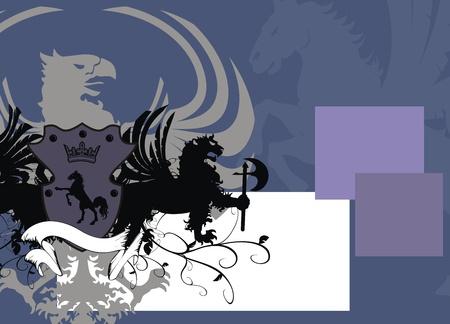 heraldic eagle background  Vector