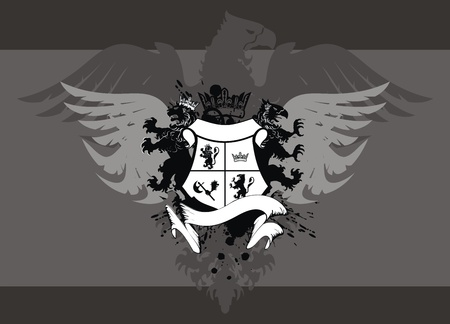 heraldic eagle background  Vector
