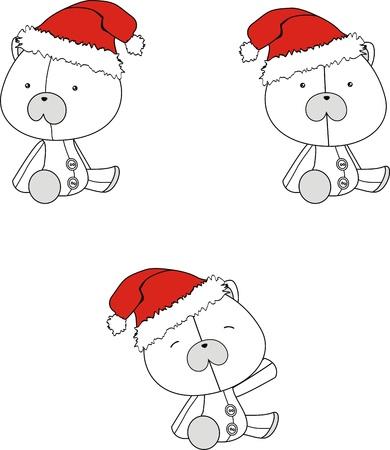 celebartion: polar bear  claus cartoon Illustration