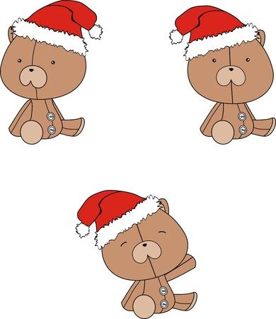 celebartion: teddy  claus cartoon  Illustration