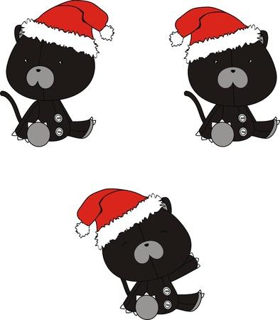 celebartion: panther  claus cartoon  Illustration
