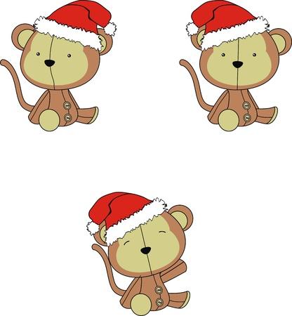 monkey  cartoon xmas