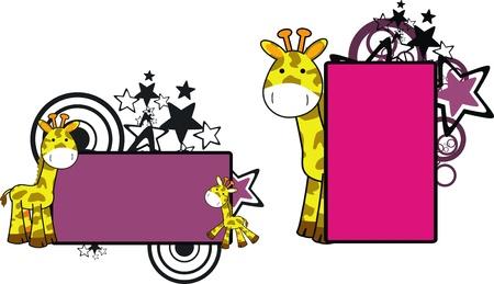 copyspace: giraffe cartoon copyspace