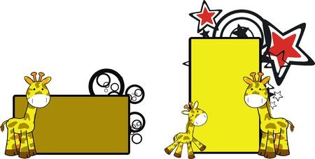 copyspace: giraffe cartoon copyspace Illustration