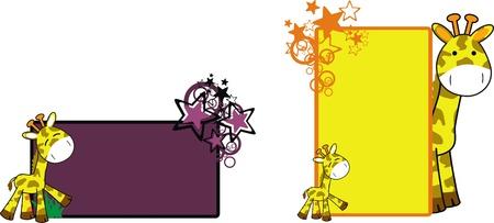 giraffe cartoon copyspace