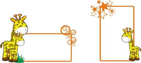 giraffe cartoon copyspace Stock Vector - 8495344