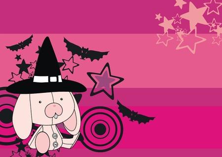 celebartion: bunny  witch cartoon backgroud