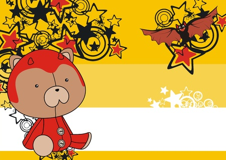 celebartion: teddy  devil cartoon background