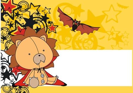 lion  bat plush cartoon