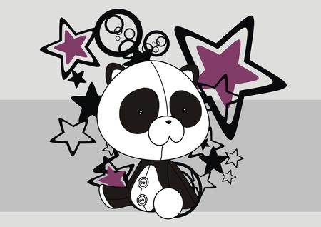 panda plush cartoon wallpaper  Vector
