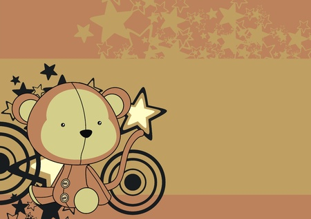 plush: monkey  plush cartoon wallpaper