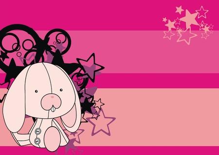 bunny  plush cartoon backgroud