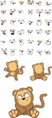 monkey  cartoon  Illustration