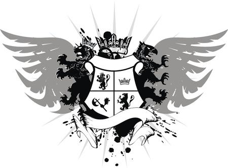 heraldic coat of arms Stock Vector - 8495405
