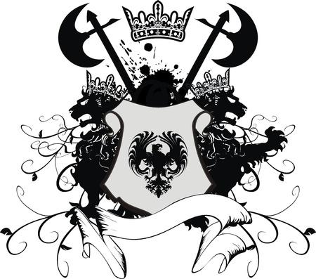 Armoiries héraldique Banque d'images - 8495404