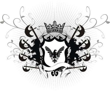 shield and sword: heraldic coat of arms