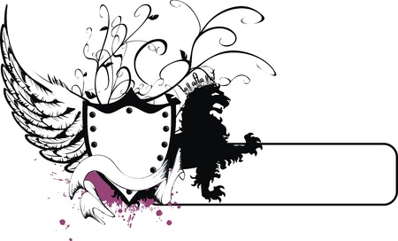 wappen: Gryphon heraldischen Wappen  Illustration