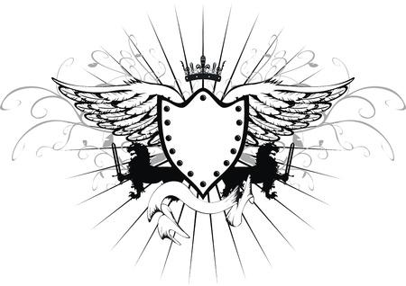 tattoo design: heraldic gryphon coat of arms