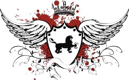 heraldic gryphon coat of arms Imagens - 8495409