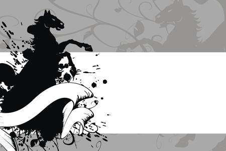 heraldic horse background Stock Vector - 8495376