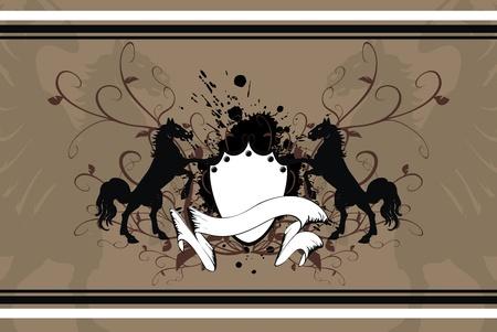 tattoo design: heraldic horse background