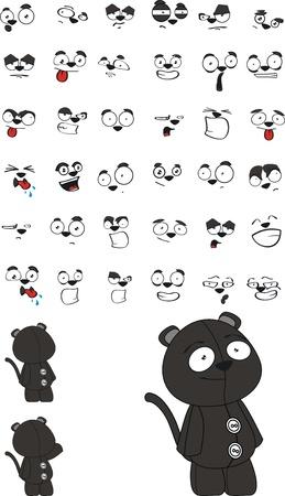 plush: panther plush cartoon  Illustration