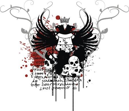 tattoo design: heraldic coat of arms